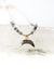"Intuition 14.5-16.6"" Star Quartz Crescent Necklace"