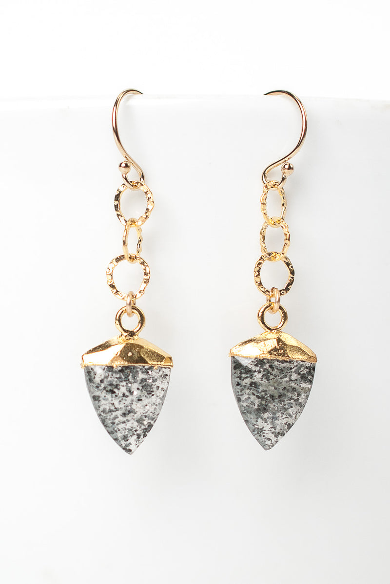 Intuition Star Quartz Arrow Dangle Earrings