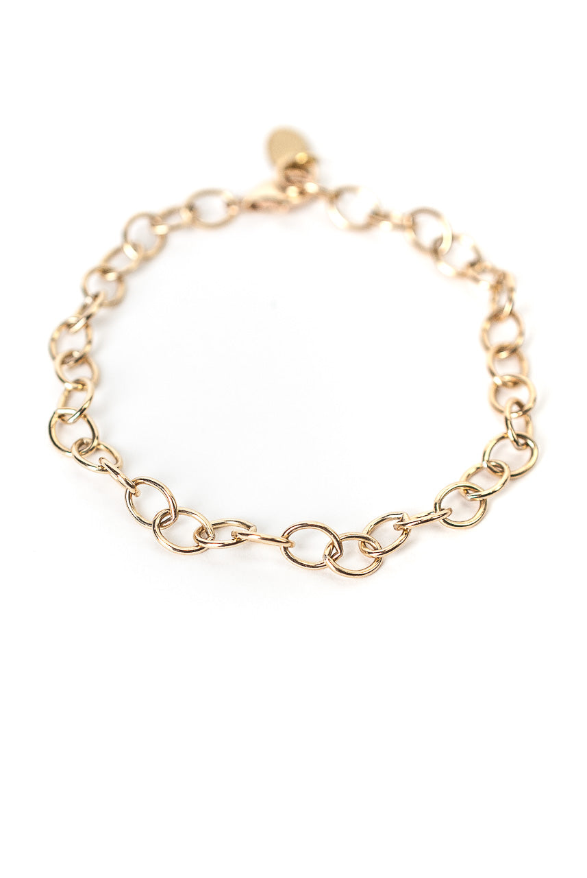"Intuition Adjustable 8"" Gold Bracelet"