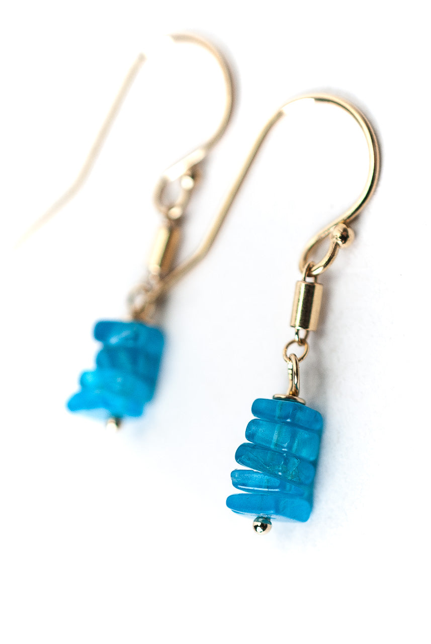 *Jovial Neon Apatite Dangle Earrings