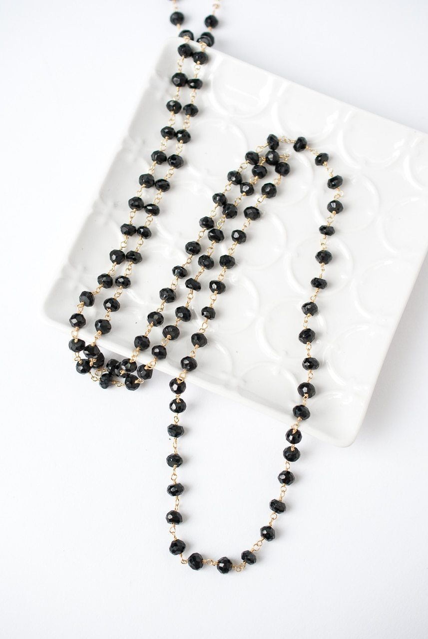 "Jubilee 40.5-42.5"" Black Spinel Layer Necklace"