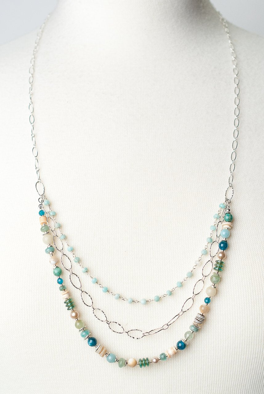 "*Life 28.5-30.5"" Multistrand Collage Necklace"