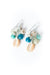*Life Polished Shell Cluster Earrings
