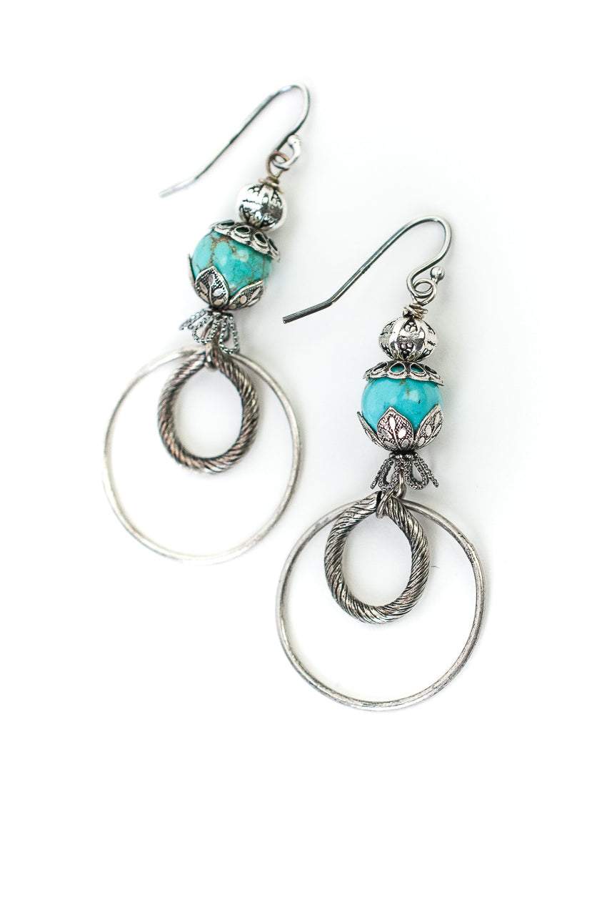 Lakeside Turquoise Hoop Earrings