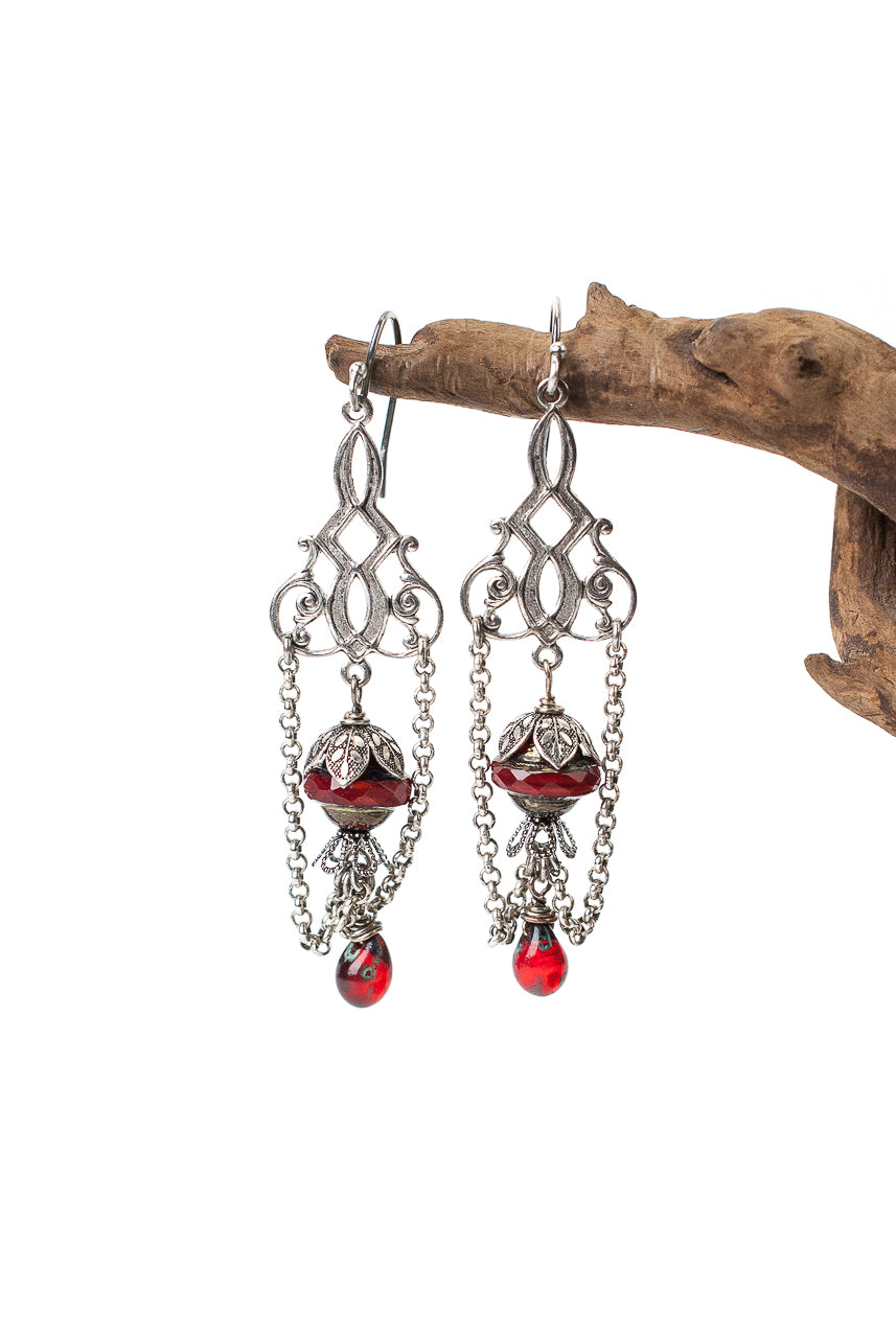 Lakeside Czech Glass Chandelier Earrings