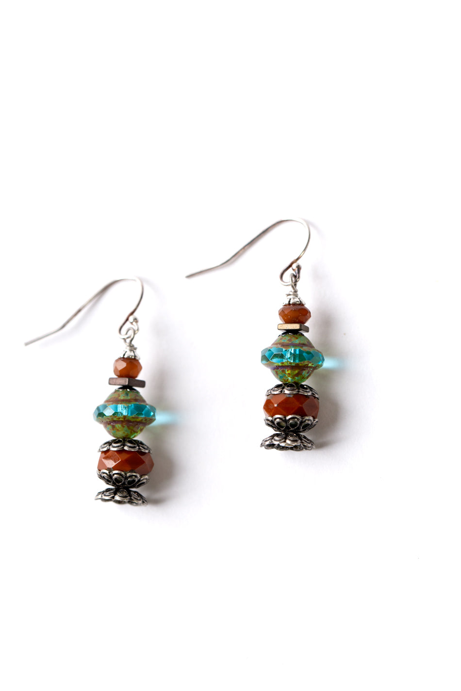 Lakeside Czech Glass Dangle Earrings