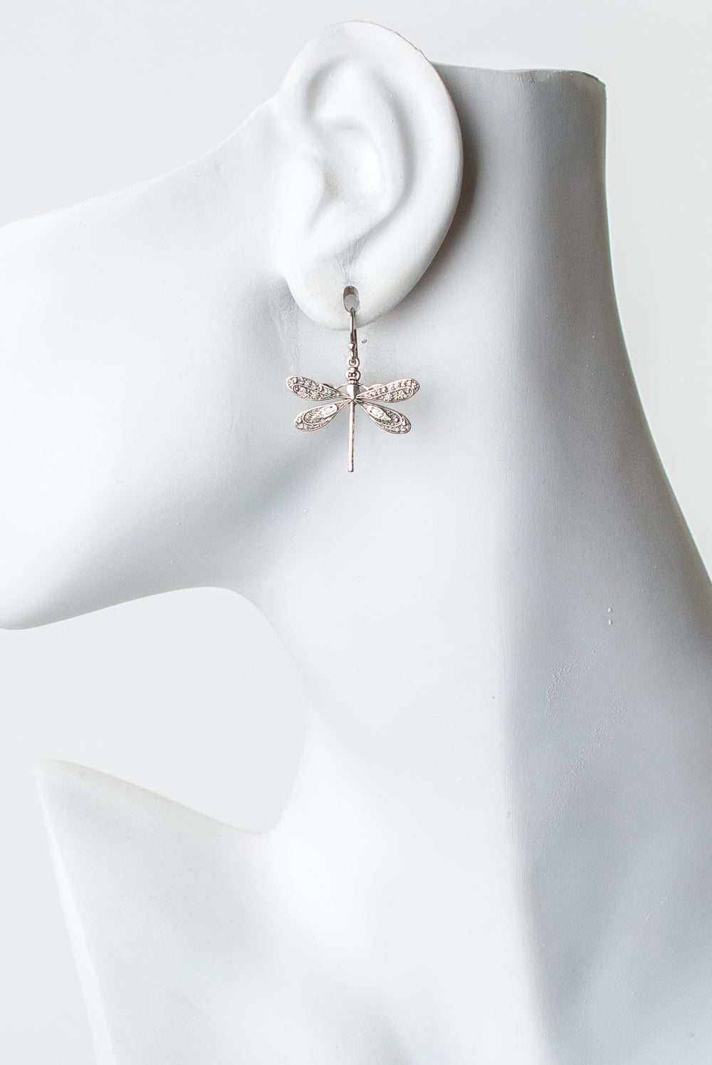 Lakeside Silver Dragonfly Dangle Earrings