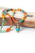 "Limited Edition 16.5-18.5"" Coral, Jasper, Turquoise Collage Focal Necklace"