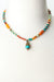 "Limited Edition 17.5-19.5"" Coral, Jasper, Turquoise Collage Focal Necklace"