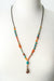"Limited Edition 23.5-25.5"" Coral, Jasper, Turquoise Collage Focal Necklace"