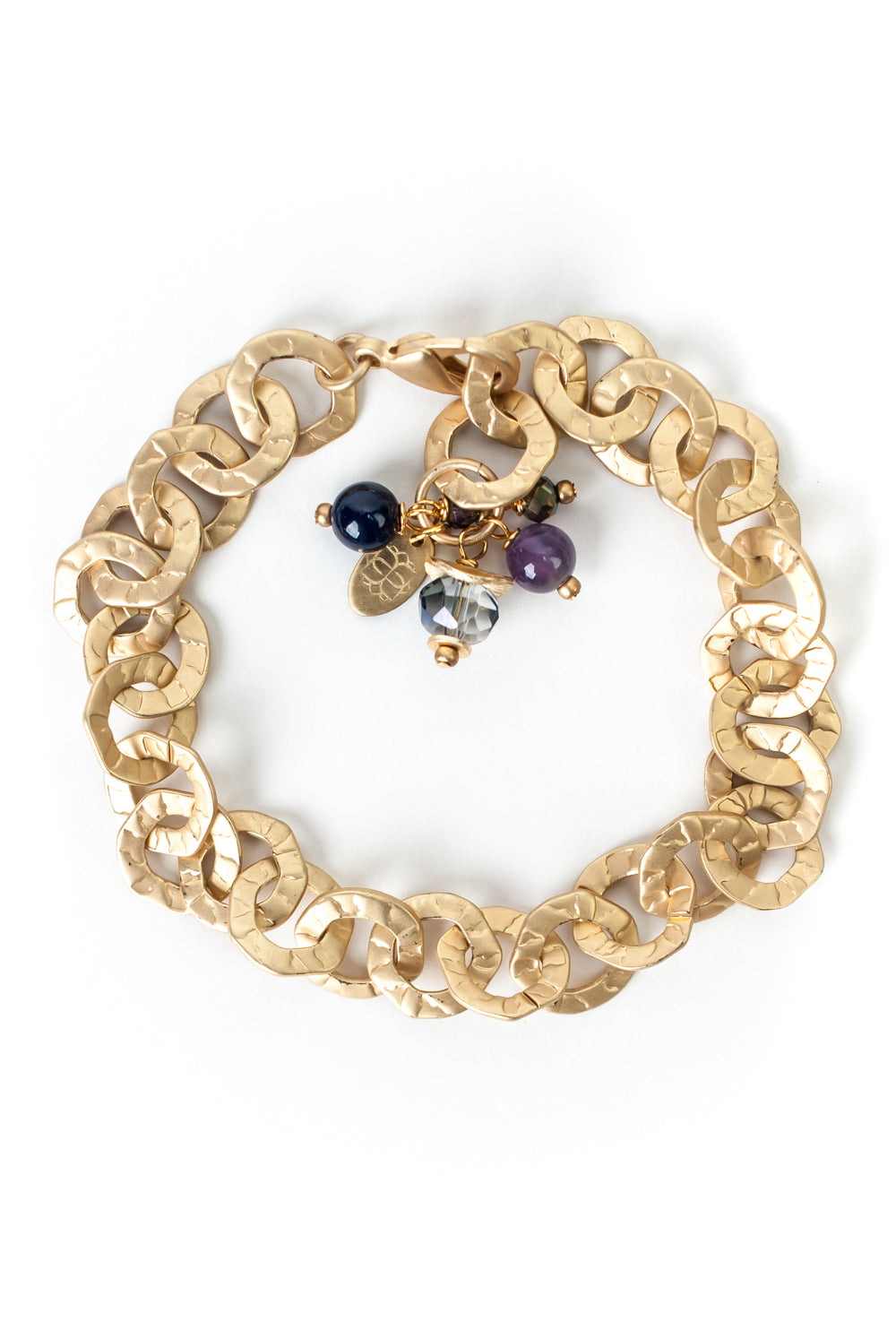 "Midnight 8.5"" Simple Gold Chain Bracelet"