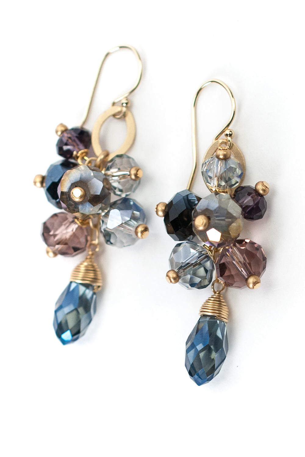 Midnight Crystal Cluster Earrings