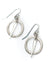 Misty Morning Antique Silver Hoop Earrings