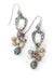 Misty Morning Czech Glass, Ruby, Crystal Cluster Earrings