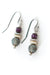 Misty Morning Czech Glass, Ruby, Shell Dangle Earrings
