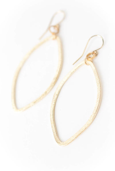 Midnight Hammered Hoop Earrings