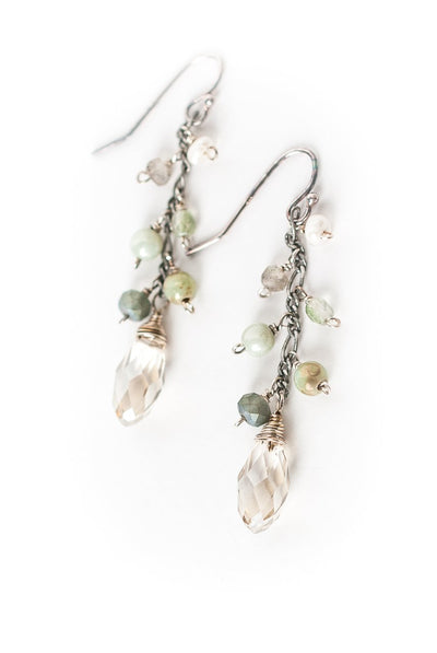 Mint Julep Dangle Cluster Earrings