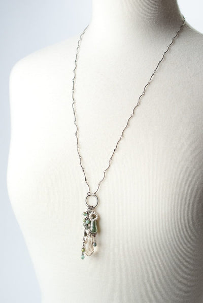 "Mint Julep 25-27"" Tassel Pendant Necklace"