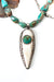 "One of a Kind 32-34"" Carved Bone and Fine Silver Focal Necklace"