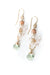 Peonies Pink Opal, Czech Glass, Crystal Cluster Dangle Earrings