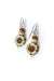Refresh Czech Glass, Jasper, Shell Dangle Earrings