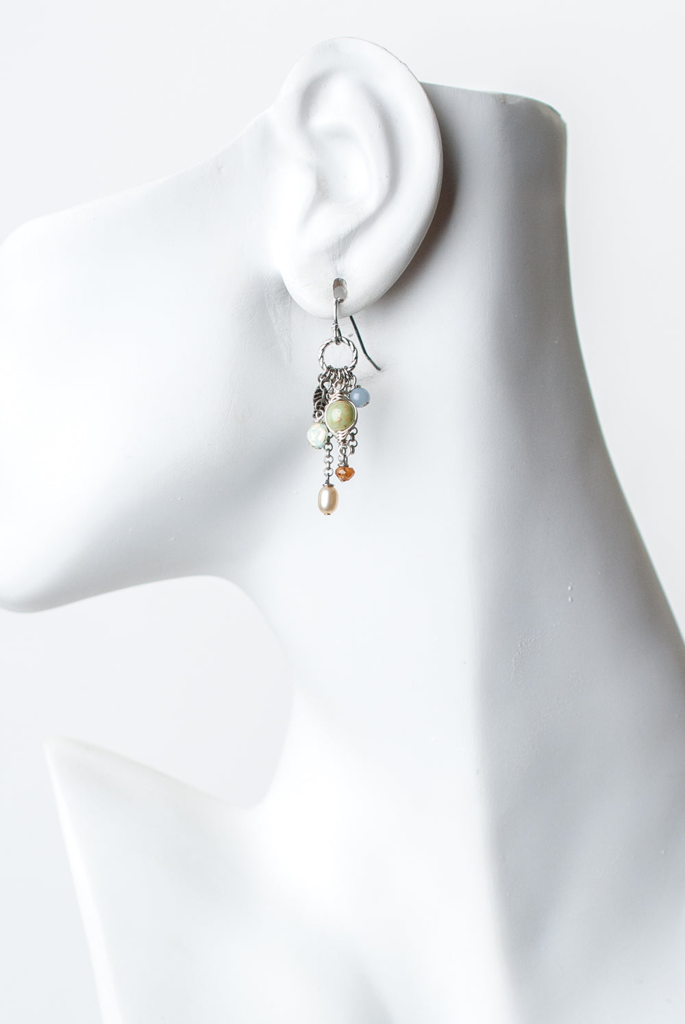 Refresh Czech Glass, Pearl Tassel Earrings