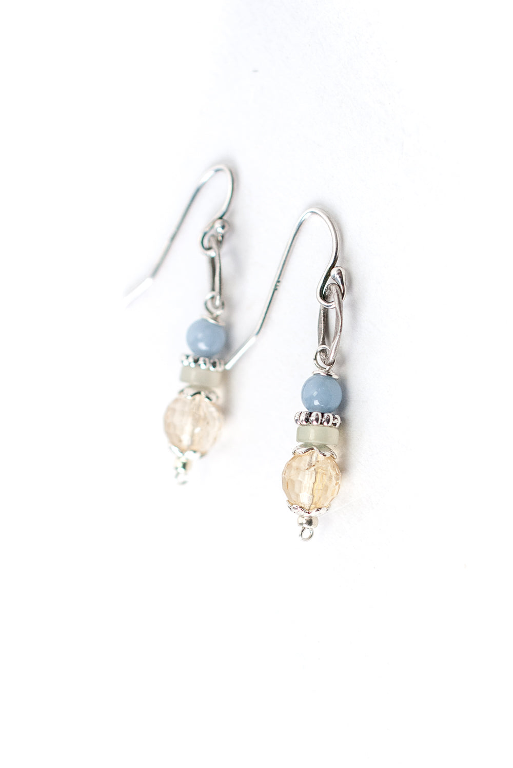 Refresh Prehnite, Citrine, Czech Glass Dangle Earrings