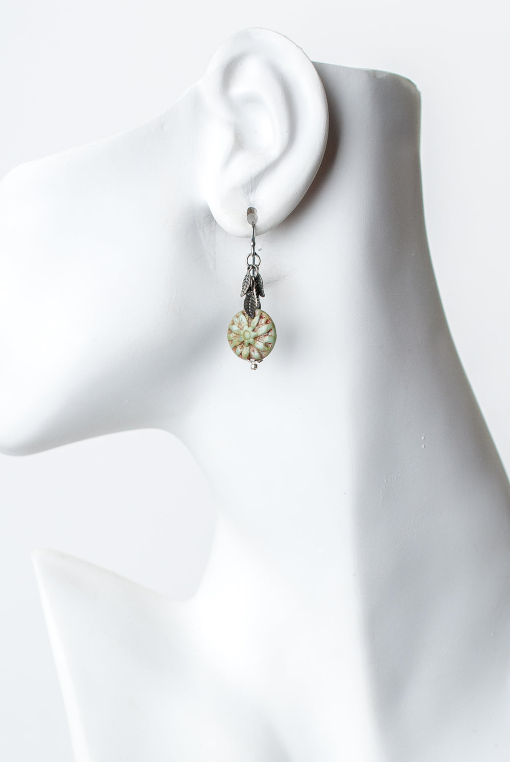Refresh Czech Glass, Leaf Dangle Earrings