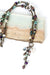 "Rich Vintage 17-19"" Fresh Water Pearl, Crystal, Garnet Tassel Necklace"