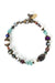 "Rich Vintage 7.5-8"" Fresh Water Pearl, Crystal, Garnet Simple Bracelet"