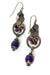 Rich Vintage Czech Glass, Crystal Cluster Dangle Earrings