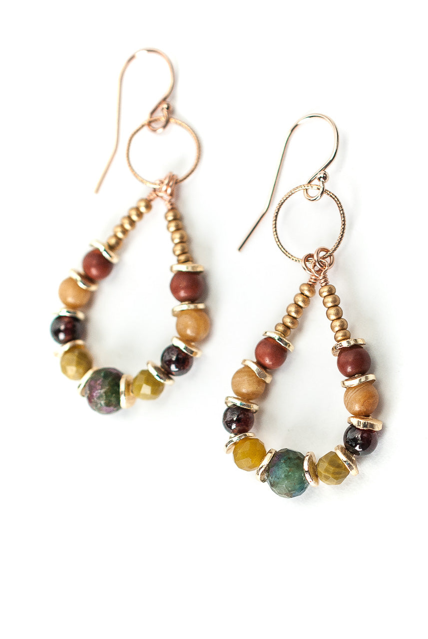 *Rhapsody Gemstone Hoop Earrings