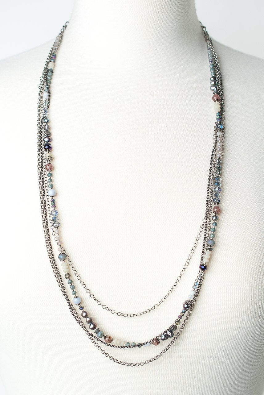 Reflections Adjustable Multistrand Collage Necklace