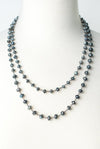"Reflections 47-49"" Simple Long Layer Necklace"