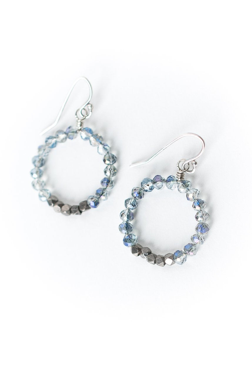 Reflections Crystal Hoop Earrings