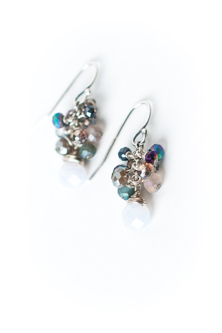 Reflections Blue Lace Agate Cluster Earrings