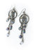 Reflections Crystal Tassel Hoop Earrings