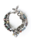"Reflections 7.5-8.5"" Cluster Focal Multistrand Bracelet"