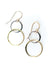 Seaside Double Silver and Gold Hoop Earrings
