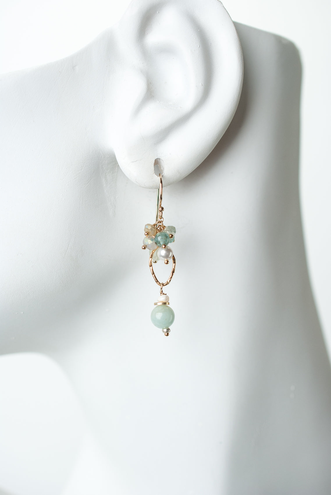 Serenity Gemstone Cluster Earrings