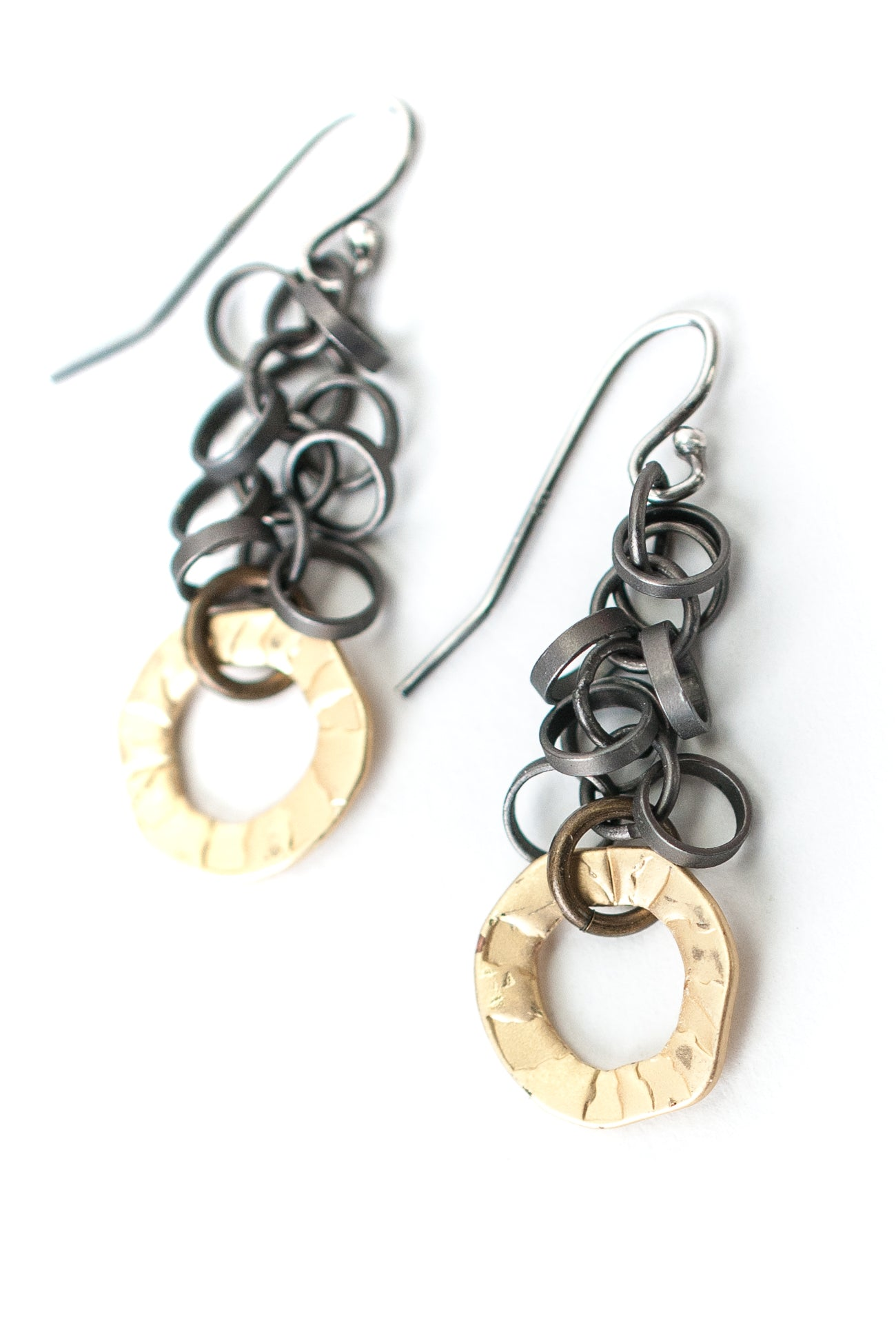 Silver & Gold Mixed Metal Earrings