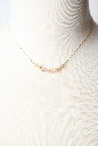 "Simplicity 16-18"" Pearl Bar Necklace"