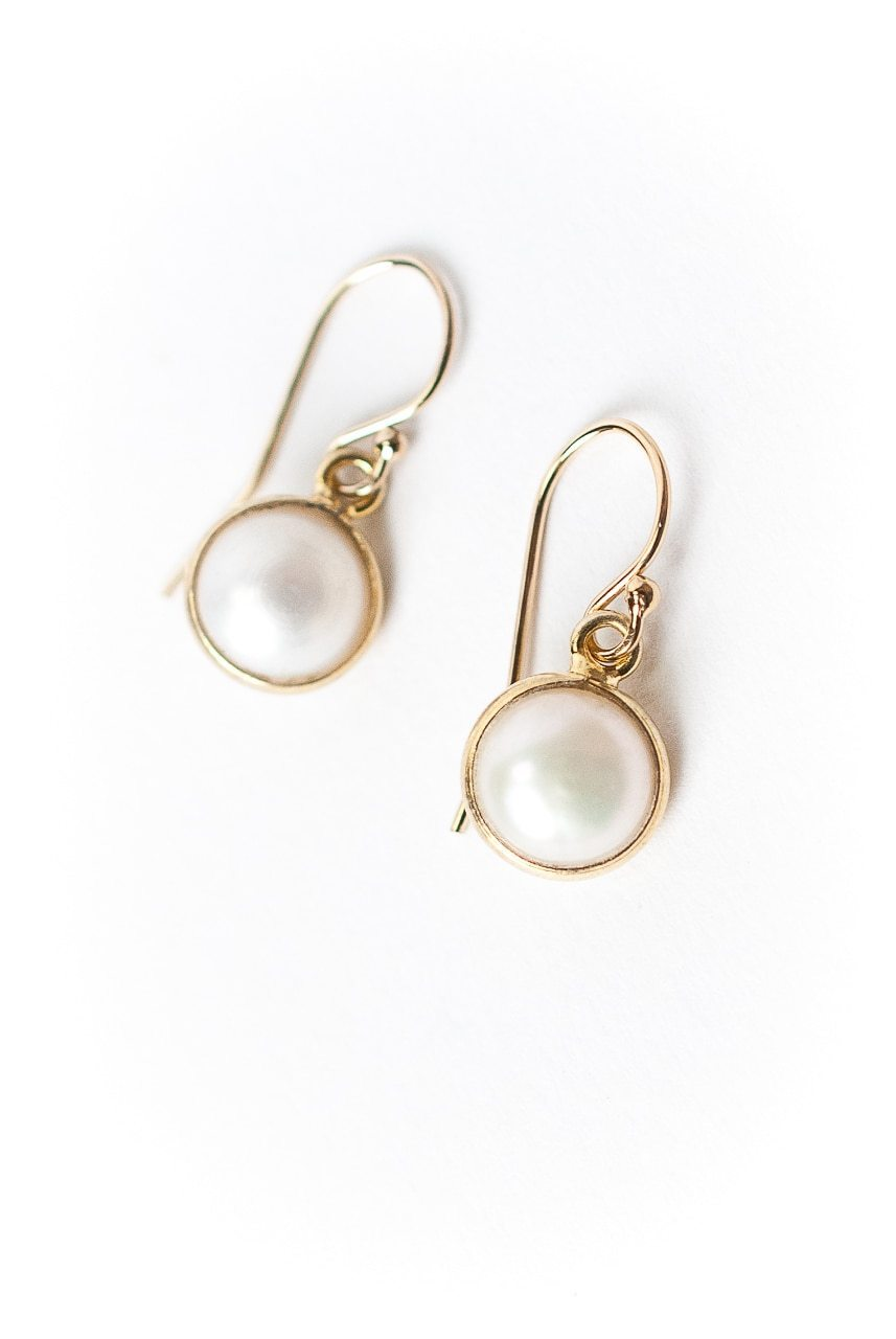 Simplicity Pearl Bezel Earrings