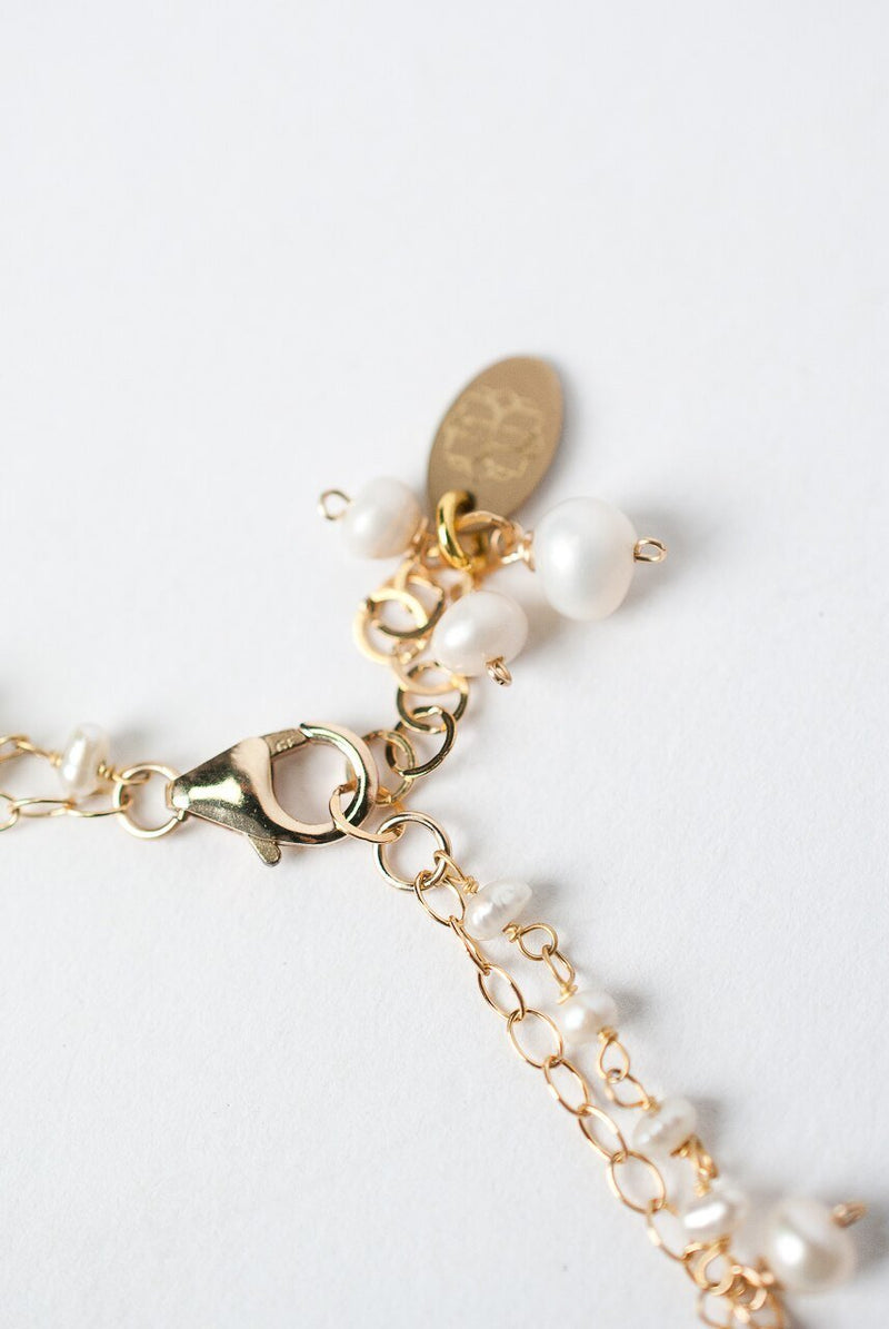 "Simplicity 7.5- 8.5"" Pearl Dangle Multistrand Bracelet"