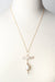 "*Simplicity 22-24"" Pearl Herringbone Focal Necklace"