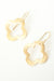 Sunset Matte Gold Clover Earrings