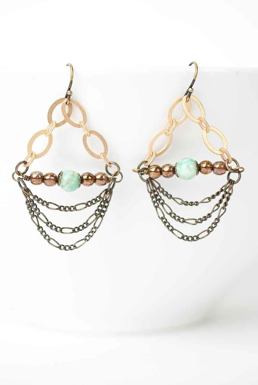 Sandalwood Chandelier Earrings