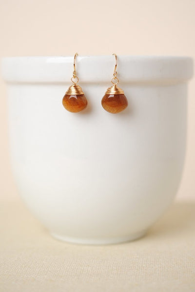 Sedona Sunset Sunstone Dangle Earrings