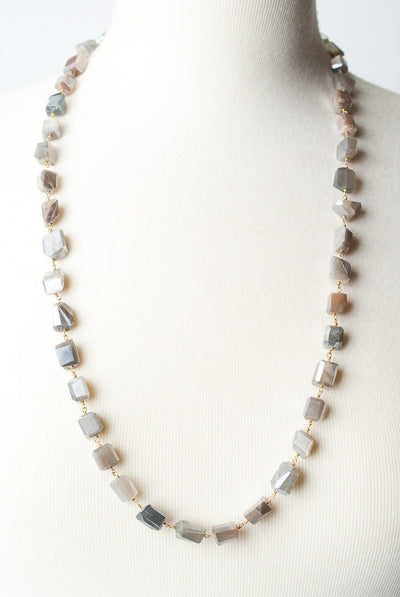 "Selena 29-31"" Moonstone Layer Necklace"