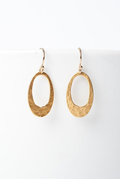 Selena Matte Gold Plated Hoop Earrings